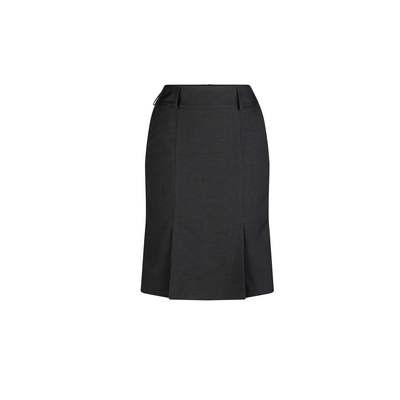 Kick Pleat Pocket Skirt Charcoal Polyester Charcoal 375K-ME-CHA_LSJ
