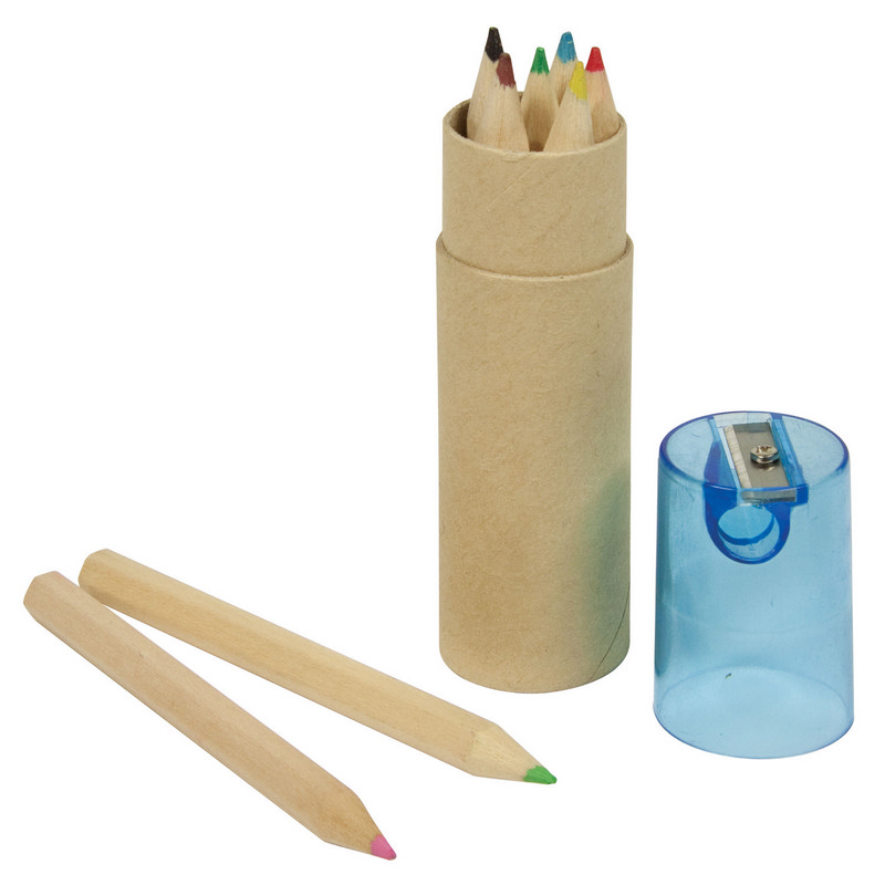 6 pce Colour Pencil Set - Blue Lid - Spectrum