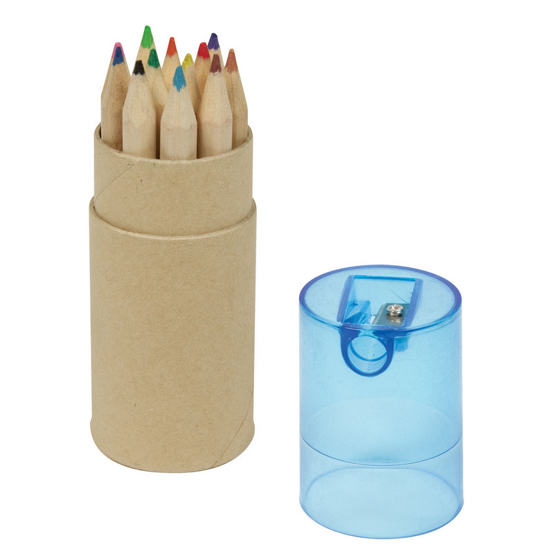 12 pce Colour Pencil Set - Blue Lid - Spectrum