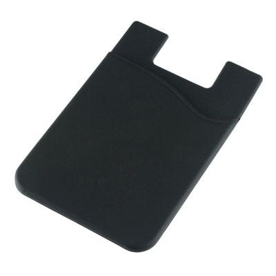 Silicone Phone Card Holder - Black