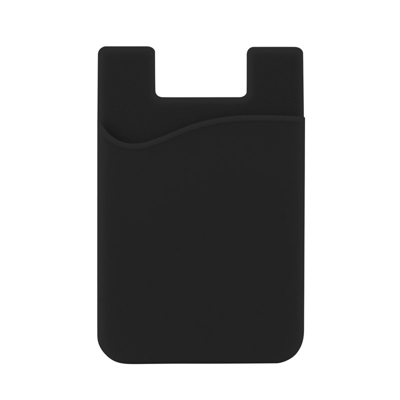 Silicone Phone Card Holder - Black