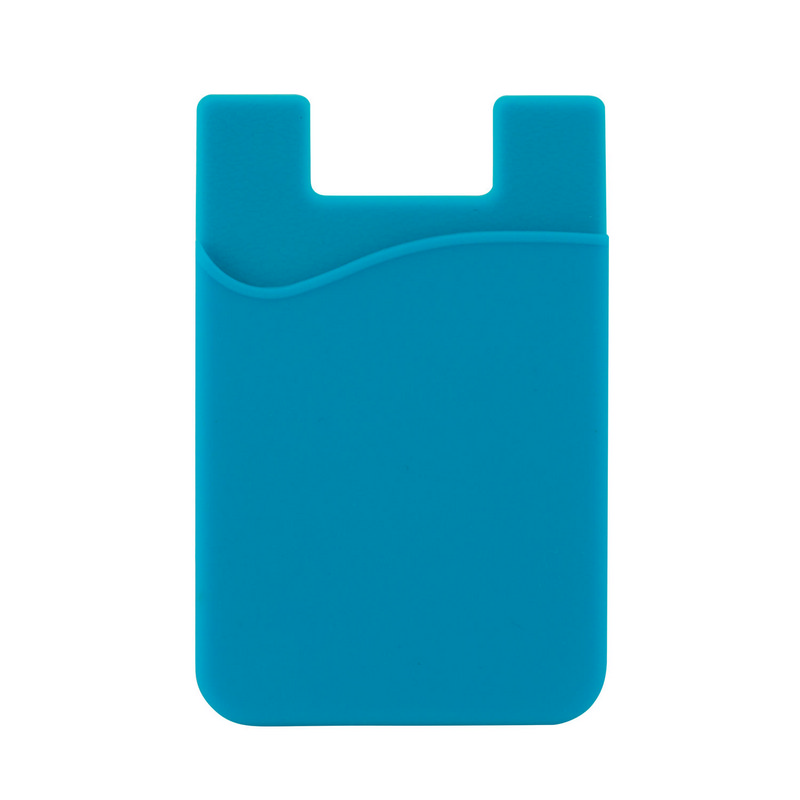 Silicone Phone Card Holder - Cyan