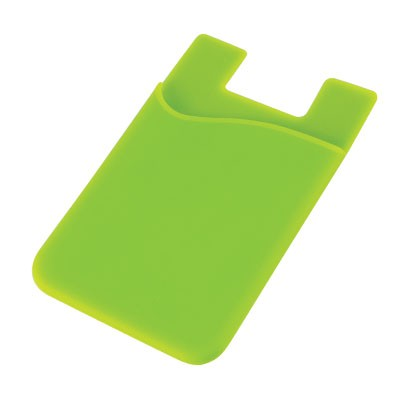 Silicone Phone Card Holder - Lime
