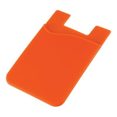 Silicone Phone Card Holder - Orange