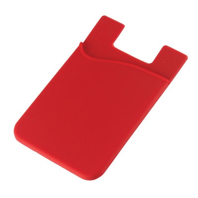 Silicone Phone Card Holder - Red