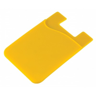 Silicone Phone Card Holder - Yellow