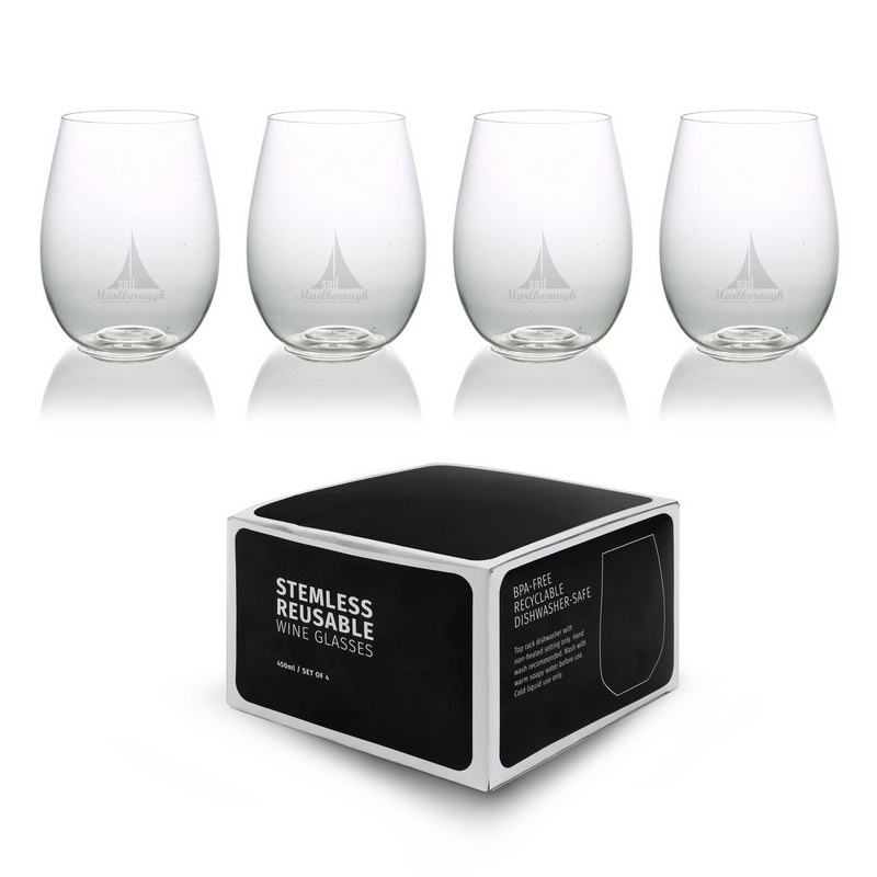 Plastic Stemless Glasses - Set Of 4 CA2006_MXM