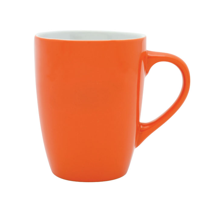 Bella Coffee Cup - Orange/White