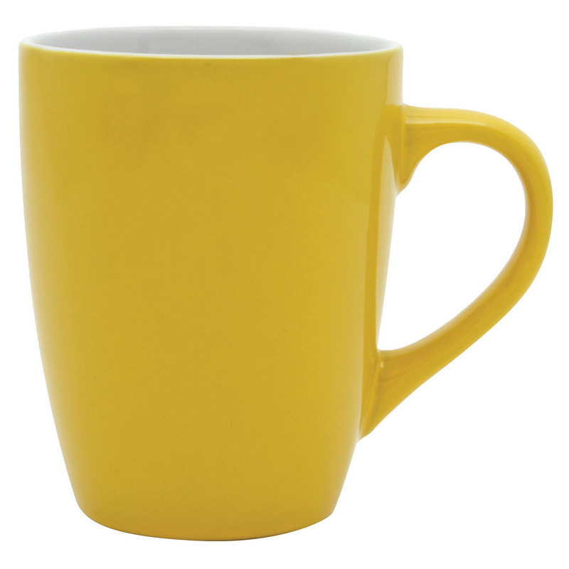Bella Coffee Cup - Yellow/White