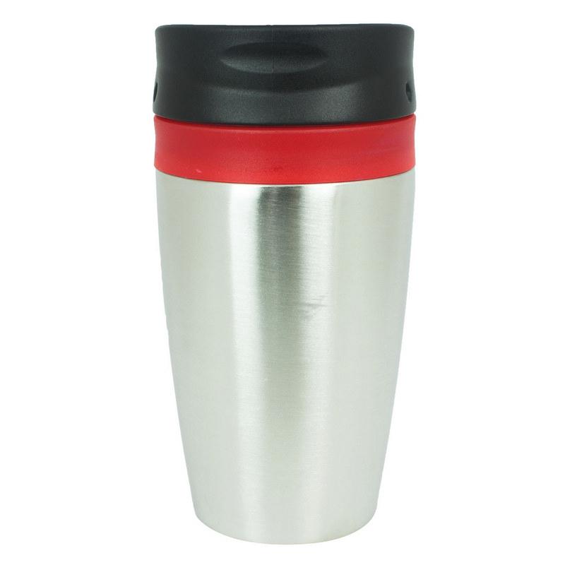 Vienna Thermo Mug - Red/ Silver