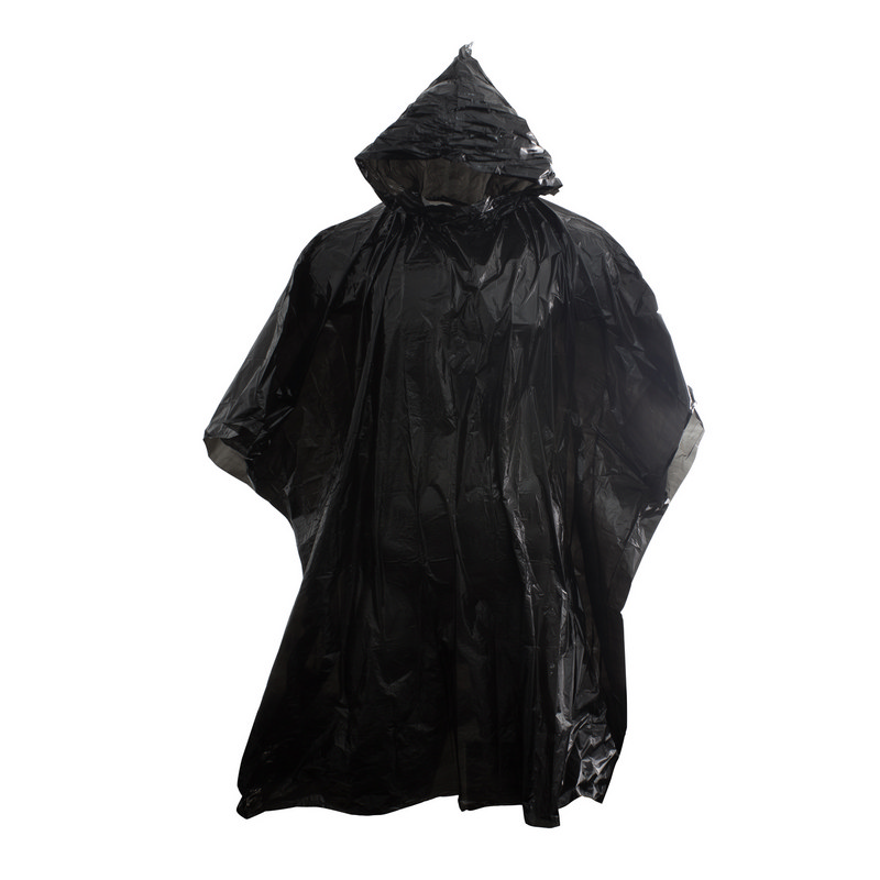 Stealth Hooded Poncho - Black