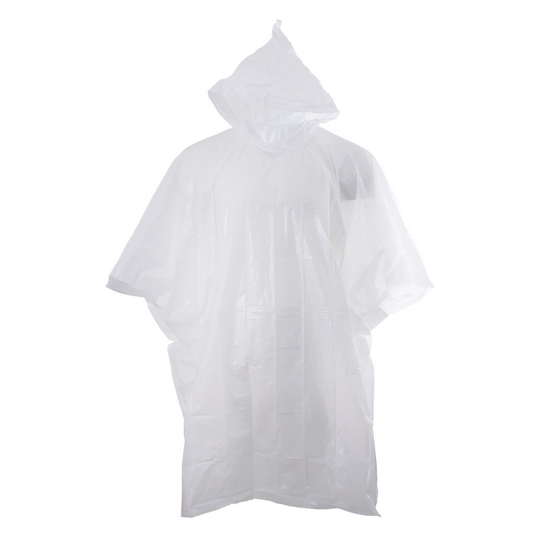 Stealth Hooded Poncho - White
