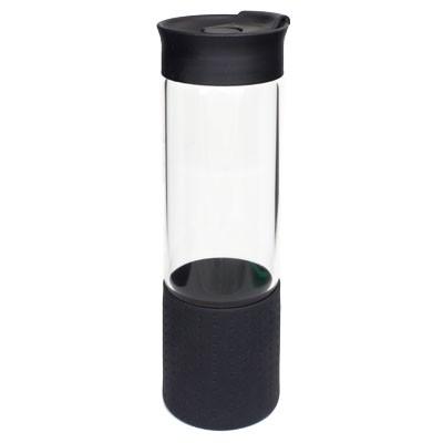Quest Glass Drink Bottle - Black