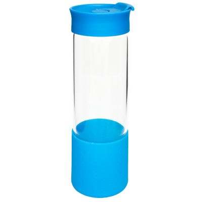 Quest Glass Drink Bottle - Cyan