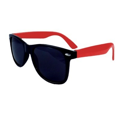 Retro Sunglasses - Red/Red