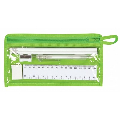 Delta Stationery Set - Lime Green