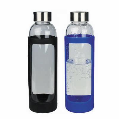 Sleeve Glass Drink Bottle w