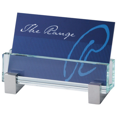 Glass Business Card Holder 1503CL_RNG_DEC