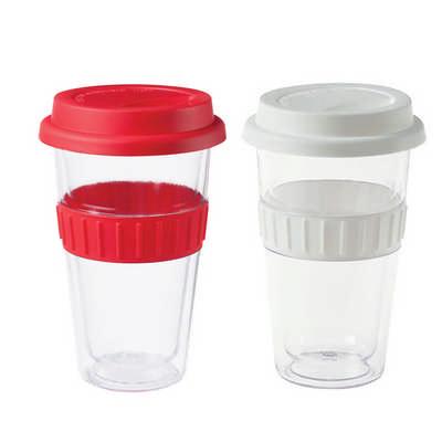 Plastic Double-Walled Mug (4037_RNG_DEC)