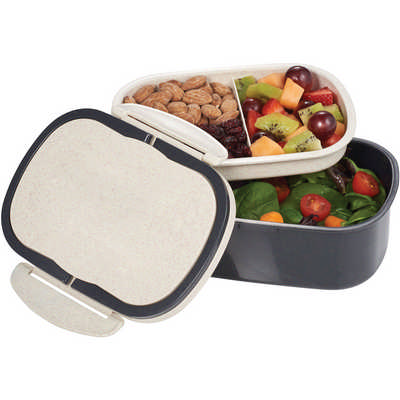 Plastic & Wheat Straw Lunch Box (4285_RNG_DEC)
