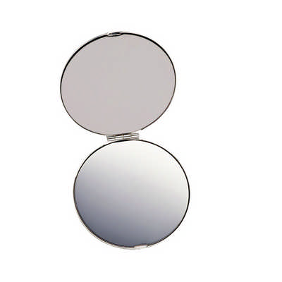 Silver Compact Mirror (8904_RNG_DEC)