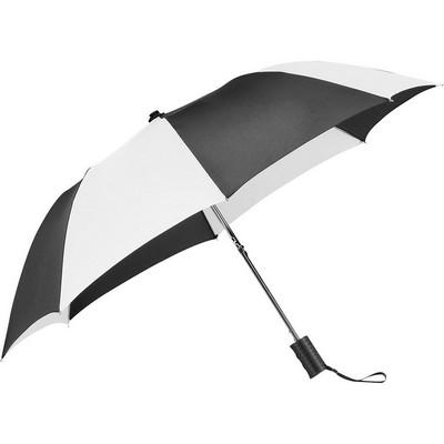 Stromberg Folding Auto Umbrella - (printed with 4 colour(s)) SB1003BKWH_RNG_DEC