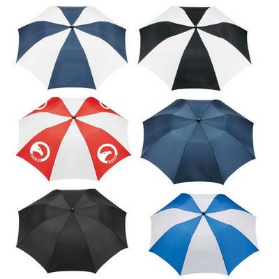 Stromberg Folding Auto Umbrella - (printed with 4 colour(s)) SB1003BK_RNG_DEC