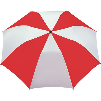 Stromberg Folding Auto Umbrella - (printed with 4 colour(s)) SB1003RDWH_RNG_DEC