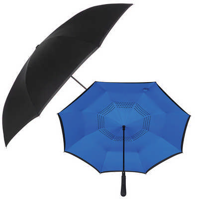 48 inch Auto Close Inversion Umbrella - Black - (printed with 1 colour(s)) SB1007BK_RNG_DEC