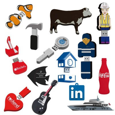 2D Custom Shape USB Flash Drive (25 Day) 4Gb