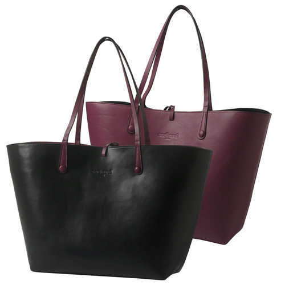 Cacharel Shopping bag Tourbillon Reversible Bordeaux-Noir (CTS513_ORSO_DEC)