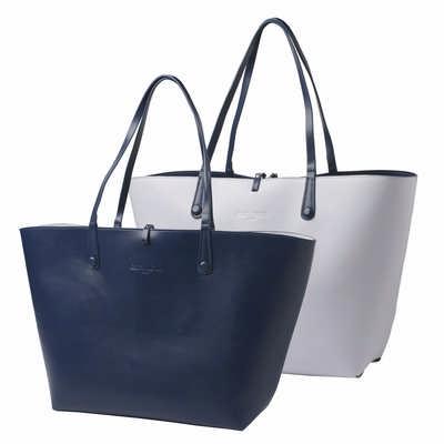 Cacharel Shopping bag Tourbillon Reversible Bleu-Lilas (CTS514_ORSO_DEC)