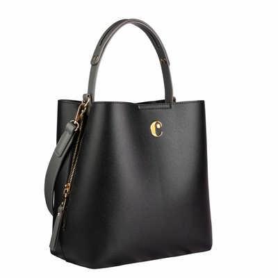 Cacharel Bucket bag Garance Black (CTX036A_ORSO_DEC)
