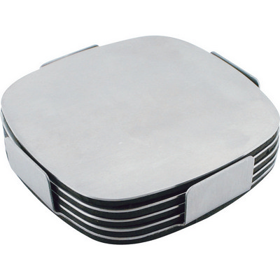 Executive stainless steel coaster set  - (printed with 1 colour(s)) G724_ORSO_DEC