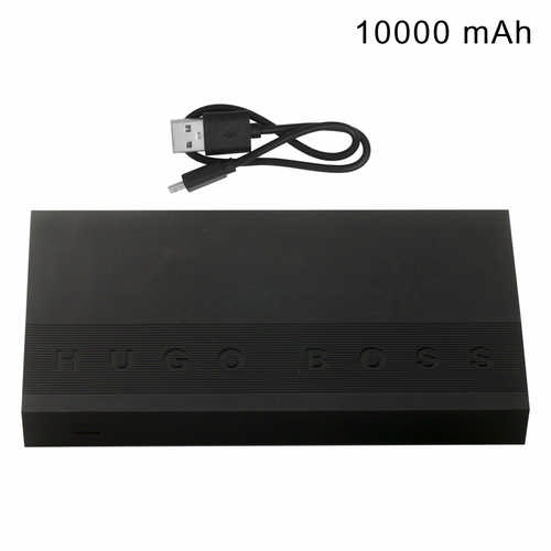 Hugo Boss Power bank Edge Black - (printed with 1 colour(s)) HAX806_ORSO_DEC