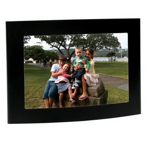 Arc matt black photo frame - (printed with 1 colour(s)) G1121_ORSO_DEC