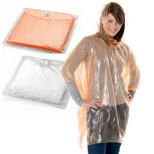 Disposable poncho - (printed with 1 colour(s)) G1474_ORSO_DEC