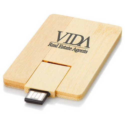 Bamboo credit card USB (G1528_ORSO_DEC)