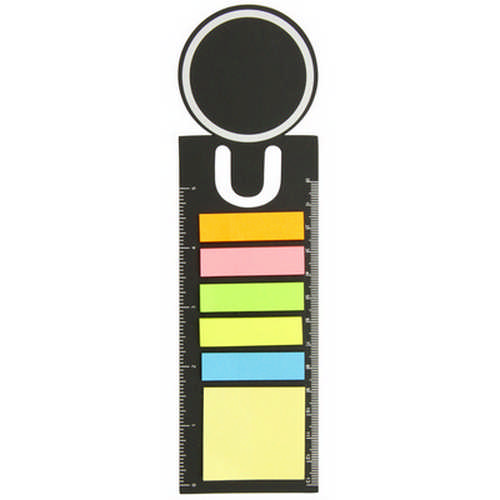 Bookmark ruler with sticky notes - (printed with 1 colour(s)) G1612_ORSO_DEC