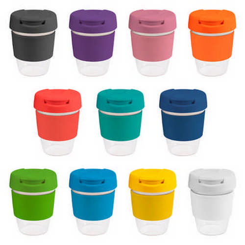 8oz235ml Clear Plastic Karma Kup Plastic Flip Lid - (printed with 1 colour(s)) G1955_ORSO_DEC