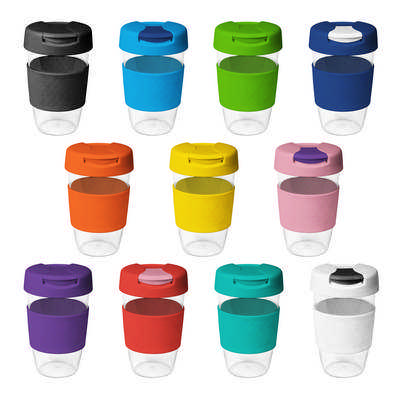 16oz535ml Clear Plastic Karma Kup with Plastic Flip Lid - (printed with 1 colour(s)) G1957_ORSO_DEC