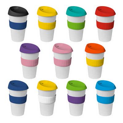 16oz535ml Plastic Karma Kup Silicon lid - (printed with 1 colour(s)) G1962_ORSO_DEC