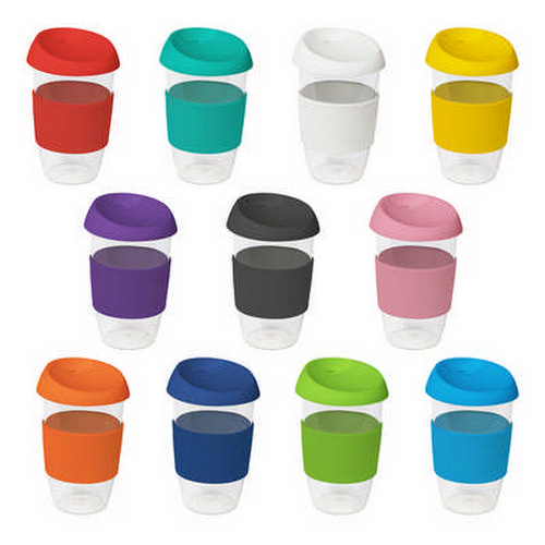 16oz535ml Clear Plastic Karma Kup with Silicon Lid - (printed with 1 colour(s)) G1966_ORSO_DEC