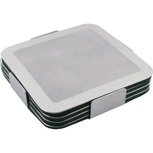 Prestige stainless steel coaster set - (printed with 1 colour(s)) G725_ORSO_DEC