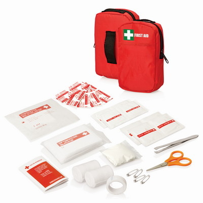 30pc First Aid Kit - Belt Pouch wFront Pocket