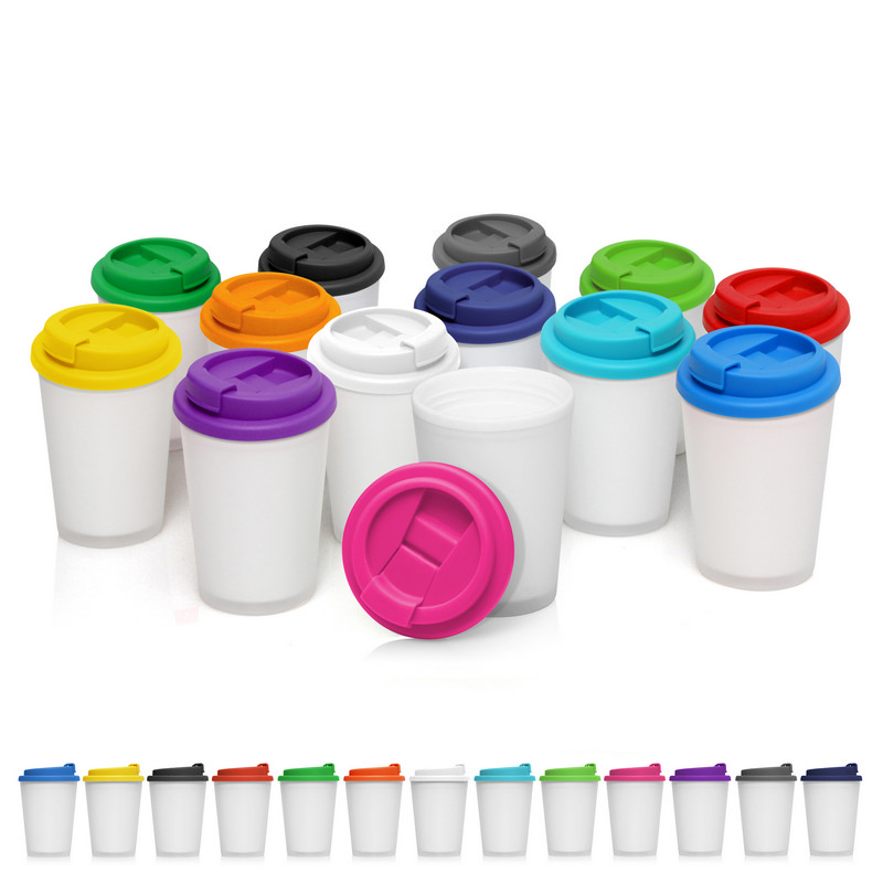 Eco Coffee Cup Plastic Double Wall Cup2Go Frosted 356ml