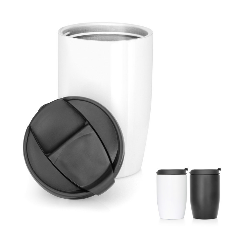Eco Coffee Cup Stainless Double Wall Cup2Go 356ml