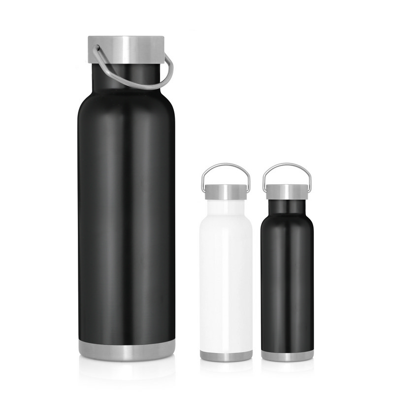 Bottle Stainless Double Wall Handle Lid 540ml