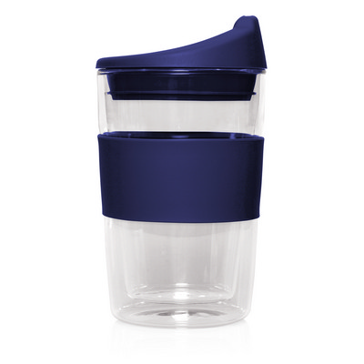 Eco Coffee Cup Glass Double Wall Cup2Go 300ml