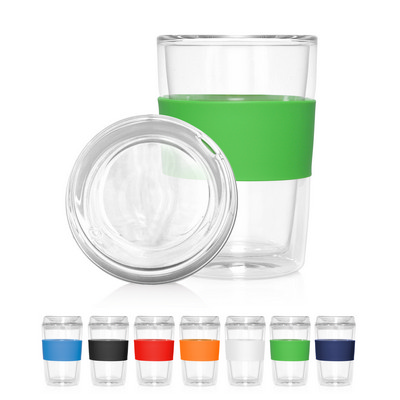 Eco Coffee Cup Glass Lid Double Wall Cup2Go 300ml